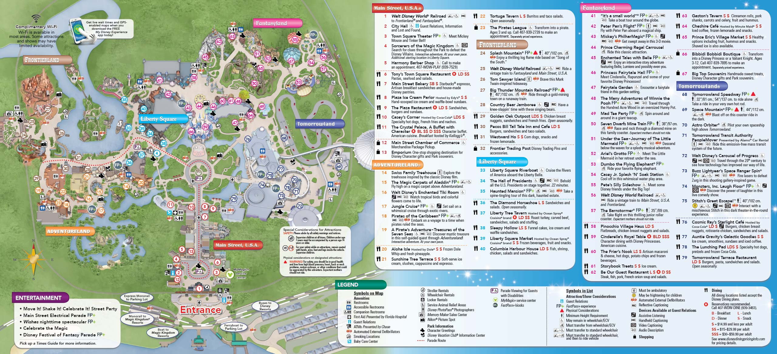Magic Kingdom Map With New Fantasyland Magic Kingdom Map With New