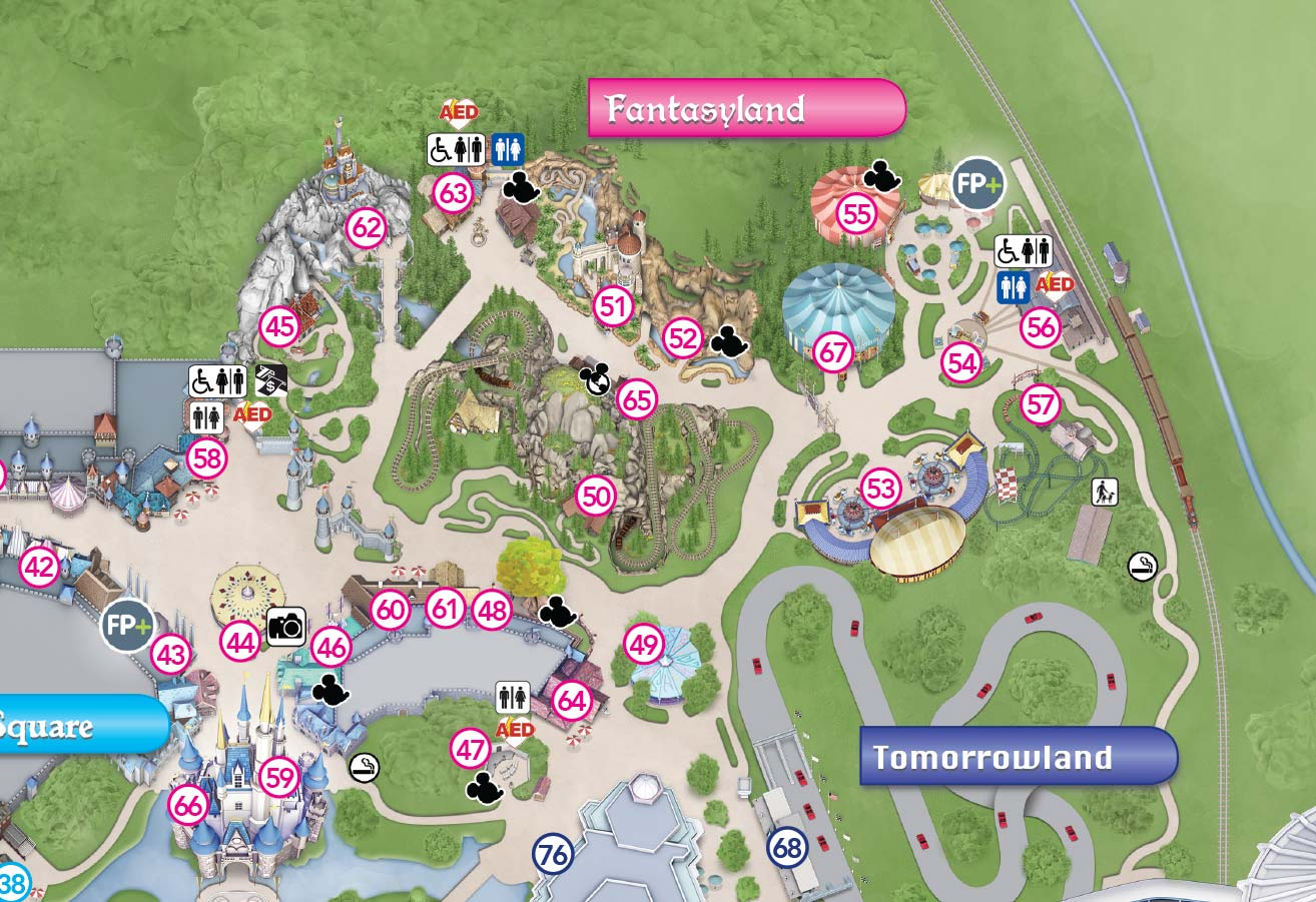 Magic Kingdom Map With New Fantasyland Magic Kingdom Map With New