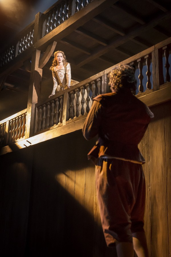 Shakespeare In Love 3 - Lucy Briggs-Owen as Viola with Tom Bateman as Will. Photo by Johan Persson ©Disney
