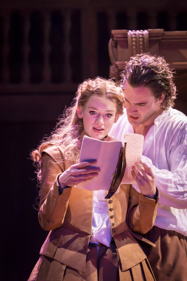 Shakespeare In Love 4 - Lucy Briggs-Owen as Viola and Tom Bateman as Will. Photo by Johan Persson ©Disney