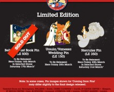 Disney Store UK March Pin Releases
