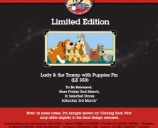 Disney Store UK Pin Release Friday 2nd March